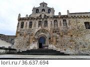 Ona, Church of San Salvador (11th century). Burgos, Castilla y Leon... Стоковое фото, фотограф J M Barres / age Fotostock / Фотобанк Лори