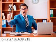 Lawyer working in the office. Стоковое фото, фотограф Zoonar.com/Elnur Amikishiyev / easy Fotostock / Фотобанк Лори