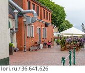 Idyllic scenery in Greetsiel, a idyllic village located in East Frisia... Стоковое фото, фотограф Zoonar.com/Achim Prill / easy Fotostock / Фотобанк Лори