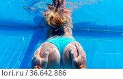 Man hands touching butt of girl underwater. Holiday, vacation, summer... Стоковое фото, фотограф Zoonar.com/Piotr Stryjewski / easy Fotostock / Фотобанк Лори