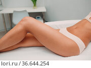 Laser epilation and cosmetology. Hair removal cosmetology procedure... Стоковое фото, фотограф Zoonar.com/Max / easy Fotostock / Фотобанк Лори