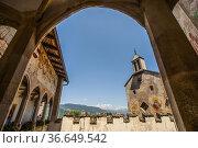 The chapel dedicated to Saint Anna, Castel Presule / Proesels Castel... Редакционное фото, фотограф Angelo Calvino / age Fotostock / Фотобанк Лори