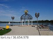 Strandbad am Waginger See, Waging, Oberbayern, Bayern, Deutschland... Стоковое фото, фотограф Zoonar.com/Günter Lenz / age Fotostock / Фотобанк Лори