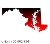 Karte von Maryland. Стоковое фото, фотограф Zoonar.com/Robert Biedermann / easy Fotostock / Фотобанк Лори