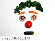Gemüsegesicht. Стоковое фото, фотограф Zoonar.com/Rüdiger Rebmann / easy Fotostock / Фотобанк Лори
