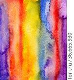 Aquarell abstrakt muster streifen. Стоковое фото, фотограф Zoonar.com/wolfgang rieger / easy Fotostock / Фотобанк Лори