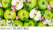 Stuttgart, Deutschland - 29. April 2021: Äpfel Früchte grün Apfel... Стоковое фото, фотограф Zoonar.com/Markus Mainka / easy Fotostock / Фотобанк Лори