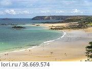 Der Strand Anse du Croc bei Pleherel, Frehel, Bretagne, Frankreich... Стоковое фото, фотограф Peter Schickert / age Fotostock / Фотобанк Лори