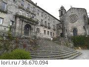 Convento de San Francisco gothic 14th century and Delegacion de Hacienda... Стоковое фото, фотограф J M Barres / age Fotostock / Фотобанк Лори