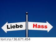 Liebe-Hass. Стоковое фото, фотограф Zoonar.com/Rüdiger Rebmann / easy Fotostock / Фотобанк Лори