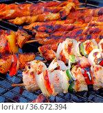 Grillen Schaschlik - barbecue shashlik 06. Стоковое фото, фотограф Zoonar.com/Liane Matrisch / easy Fotostock / Фотобанк Лори