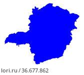 Karte von Minas Gerais - Map of Minas Gerais. Стоковое фото, фотограф Zoonar.com/Robert Biedermann / easy Fotostock / Фотобанк Лори