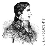Lucien Bonaparte, vintage engraved illustration. Magasin Pittoresque... Стоковое фото, фотограф Zoonar.com/Patrick Guenette / easy Fotostock / Фотобанк Лори