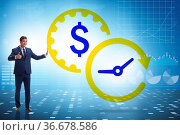 Time is money concept with the businessman. Стоковое фото, фотограф Zoonar.com/Elnur Amikishiyev / easy Fotostock / Фотобанк Лори