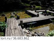 Japanischer Garten in Bad Langensalza. Стоковое фото, фотограф Zoonar.com/Martina Berg / easy Fotostock / Фотобанк Лори