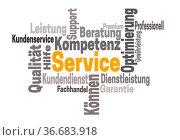 Service support kompetenz word cloud konzept. Стоковое фото, фотограф Zoonar.com/Nils Melzer / easy Fotostock / Фотобанк Лори