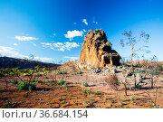 Corroboree Rock in East Macdonnell Ranges near Alice Springs, Northern... Стоковое фото, фотограф Zoonar.com/Chris Putnam / easy Fotostock / Фотобанк Лори