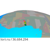 Togo with national flag on political globe. 3D illustration. Стоковое фото, фотограф Zoonar.com/Tomas Griger / easy Fotostock / Фотобанк Лори