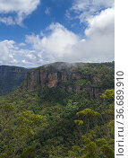 Cliff face in the Jamison Valley of the Blue Mountains where popular... Стоковое фото, фотограф Mehul Patel / age Fotostock / Фотобанк Лори