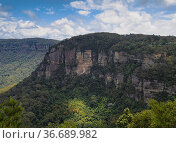 Cable Car in the Blue Mountains transporting people to and from Scenic... Стоковое фото, фотограф Mehul Patel / age Fotostock / Фотобанк Лори