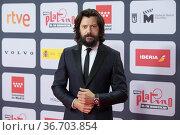 Alvaro Morte attends to Red Carpet of Platino Awards 2021 photocall... Редакционное фото, фотограф NACHO LOPEZ / age Fotostock / Фотобанк Лори