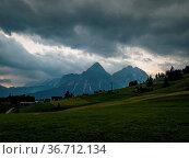Rainy hike near Ehrwald at the Tiroler Zugspitz Arena. Стоковое фото, фотограф Zoonar.com/Michael Pedrotti / easy Fotostock / Фотобанк Лори