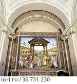 Città della Pieve Umbria Italy. Santa Maria dei Bianchi church. ... Стоковое фото, фотограф Marco Brivio / age Fotostock / Фотобанк Лори