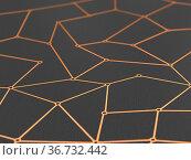 Concept network on dark background. 3D illustration. Стоковая иллюстрация, иллюстратор Ильин Сергей / Фотобанк Лори