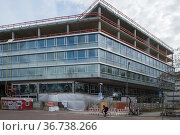 """Berlin, Germany - New building of an office building in the Gerichtsstrasse in Berlin-Mitte"" Редакционное фото, агентство Caro Photoagency / Фотобанк Лори"