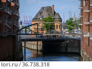 """Warehouses in the Speicherstadt, Hamburg, Germany, Europe"" Редакционное фото, агентство Caro Photoagency / Фотобанк Лори"