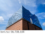 """Elbphilharmonie Hamburg, Germany, Europe"" Редакционное фото, агентство Caro Photoagency / Фотобанк Лори"
