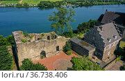 """Wetter Castle at Harkortsee, Wetter an der Ruhr, Ruhr Area, North Rhine-Westphalia, Germany"" Редакционное фото, агентство Caro Photoagency / Фотобанк Лори"
