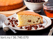 Homemade christmas cake with dried fruits and nuts on rustic wooden... Стоковое фото, фотограф Zoonar.com/Photographer: Andrey N.Cherkasov / easy Fotostock / Фотобанк Лори