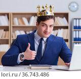 King businessman working in the office. Стоковое фото, фотограф Elnur / Фотобанк Лори