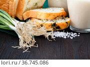 Healthy Breakfast with homemade oat milk. Стоковое фото, фотограф Zoonar.com/Photographer: Andrey N.Cherkasov / easy Fotostock / Фотобанк Лори