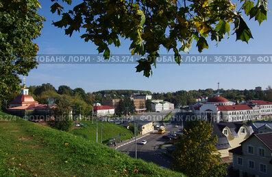 Панорама города Волоколамск с крепостных валов, Московская область, Россия