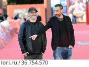 Marco Manetti and Antonio Manetti attend the Manetti Bros red carpet... Редакционное фото, фотограф Antonelli / AGF/Maria Laura Antonelli / age Fotostock / Фотобанк Лори