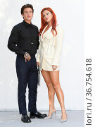 Benjamin Mascolo and Bella Thorne during the Time Is Up photocall... Редакционное фото, фотограф Antonelli / AGF/Maria Laura Antonelli / age Fotostock / Фотобанк Лори