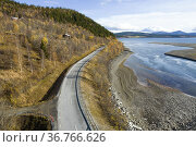 Mittiälven where it flows into Blåsjön. Part of the Ångermanälven... Стоковое фото, фотограф Andre Maslennikov / age Fotostock / Фотобанк Лори