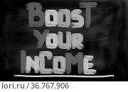 Boost Your Income Concept. Стоковое фото, фотограф Zoonar.com/Krasimira Nevenova / easy Fotostock / Фотобанк Лори