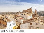 Albalate del Arzobispo, Cultural Park of Rio Martin, Teruel, Spain. Стоковое фото, фотограф Xavier Forés & Joana Roncero / age Fotostock / Фотобанк Лори