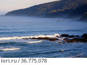 Wellen am Pazifik Strand im Süden Chiles. Стоковое фото, фотограф Zoonar.com/THOMAS RIESS / age Fotostock / Фотобанк Лори