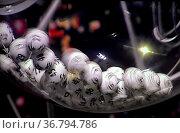Lotto: Ziehung der Lottozahlen, Lottokugeln, Lostrommel. Стоковое фото, фотограф Zoonar.com/Bildagentur Geduldig / easy Fotostock / Фотобанк Лори