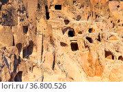 Vardzia cave monastery and ancient city in mountain rocks, Georgia. Стоковое фото, фотограф Zoonar.com/Nataliya_Nazarova{} / easy Fotostock / Фотобанк Лори