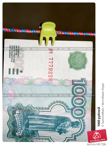 1000 рублей, фото № 41726, снято 22 января 2017 г. (c) SummeRain / Фотобанк Лори