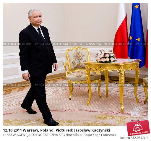 12.10.2011 Warsaw, Poland. Pictured: Jaroslaw Kaczynski. Редакционное фото, фотограф BE&W AGENCJA FOTOGRAFICZNA SP. / age Fotostock / Фотобанк Лори