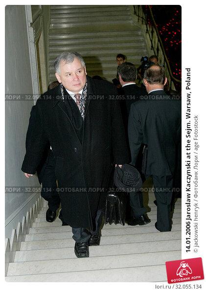 14.01.2006 Jaroslaw Kaczynski at the Sejm. Warsaw, Poland. Редакционное фото, фотограф jackowski henryk / age Fotostock / Фотобанк Лори