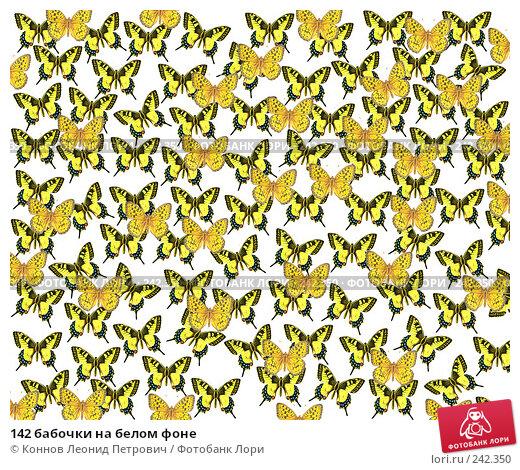 142 бабочки на белом фоне, фото № 242350, снято 22 января 2017 г. (c) Коннов Леонид Петрович / Фотобанк Лори