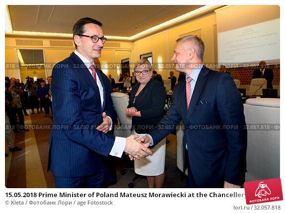 15.05.2018 Prime Minister of Poland Mateusz Morawiecki at the Chancellery sitting. Warsaw, Poland. Редакционное фото, фотограф Kleta / age Fotostock / Фотобанк Лори