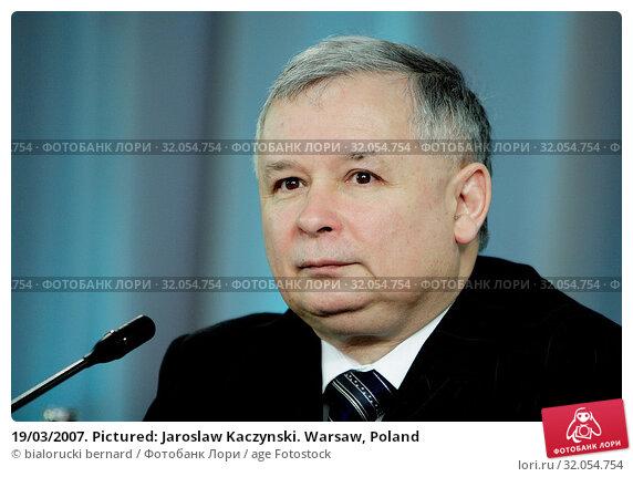 19/03/2007. Pictured: Jaroslaw Kaczynski. Warsaw, Poland. Редакционное фото, фотограф bialorucki bernard / age Fotostock / Фотобанк Лори